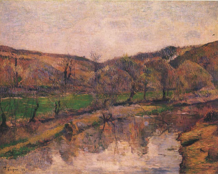 Paintings Reproductions Gauguin, Paul Landscape in  Bretani, 1888