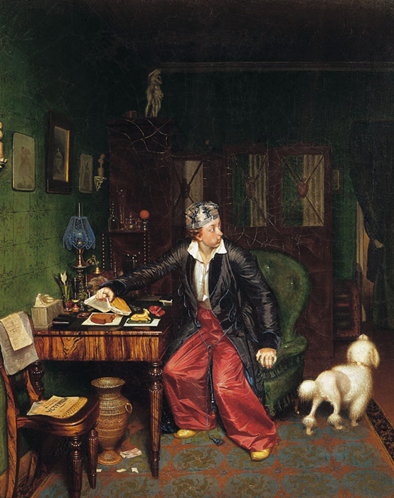 Pavel Andreevich Fedotov Reproductions-Aristocrat's brakfast, 1848