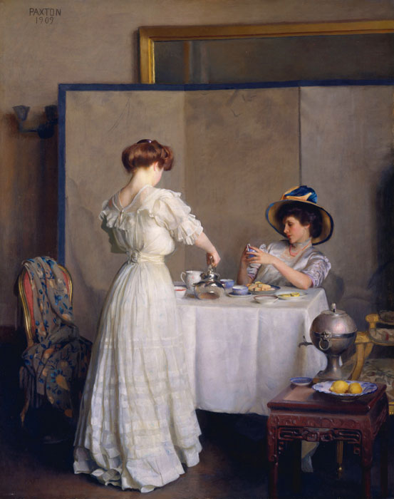 William McGregor Paxton   Reproductions-Tea Leaves, 1909