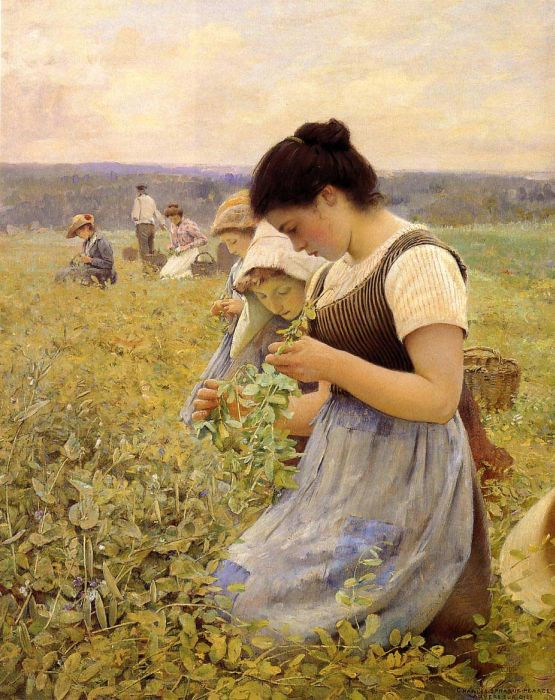 Charles Sprague Pearce Reproductions-Women in the Fields