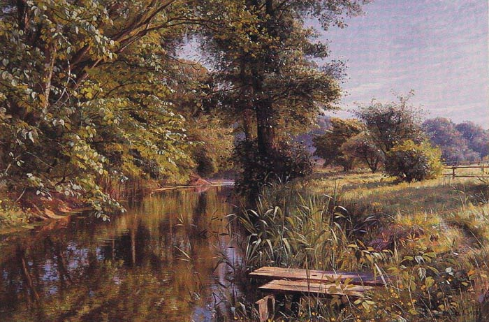 Paintings Reproductions Monsted, Peder Mork Calm Waters, 1908