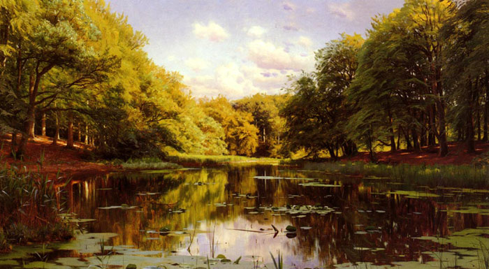 Peder Mork Monsted Reproductions-River Landscape (Scene 2)