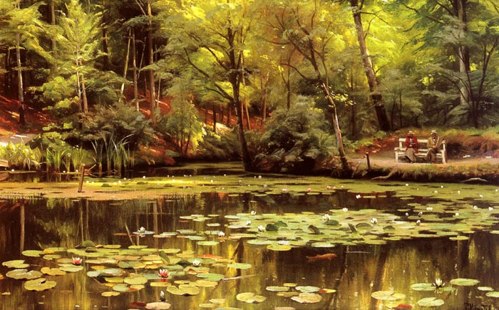 Peder Mork Monsted Reproductions-Waterlilies, 1920