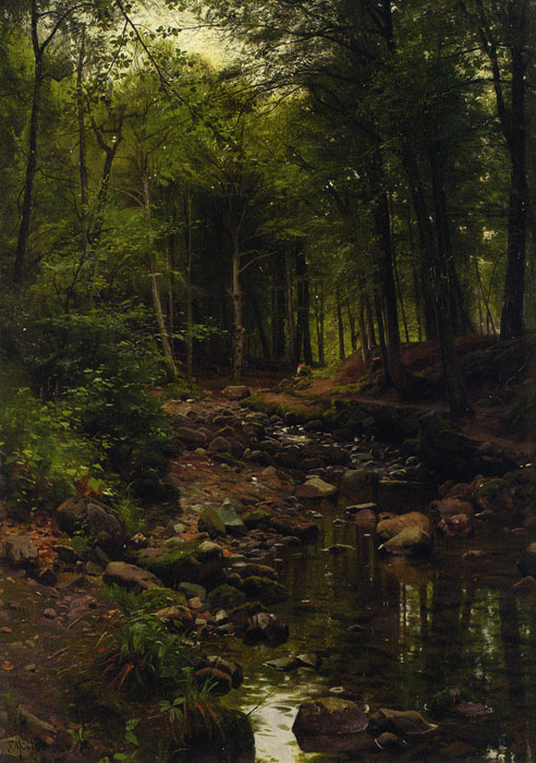 Monsted Oil Painting - Woodland Landscape