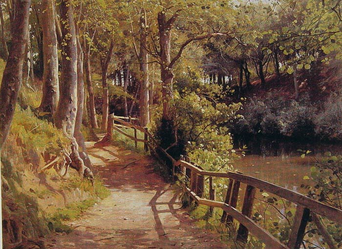 Peder Mork Monsted Reproductions-The Forest Path
