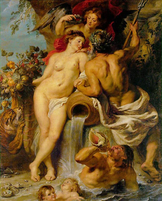Peter Paul Rubens Reproductions-The Union of Earth and Water, c.1618