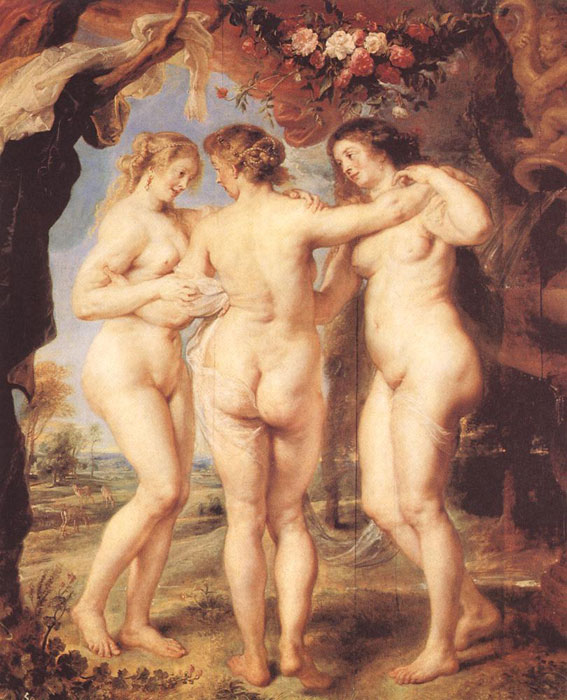 Peter Paul Rubens Reproductions-The Three Graces,1639