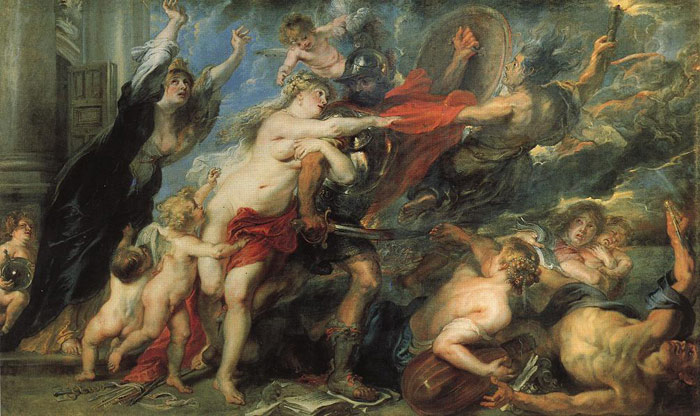 Peter Paul Rubens Reproductions-The Consequences of War, 1637-1638