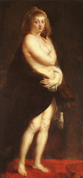 Peter Paul Rubens Reproductions-Venus in Fur-Coat, c.1630-1640