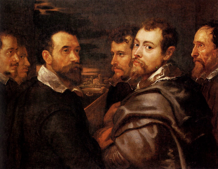 Paintings Reproductions Rubens, Peter Paul The Mantuan Circle Of Friends, 1602