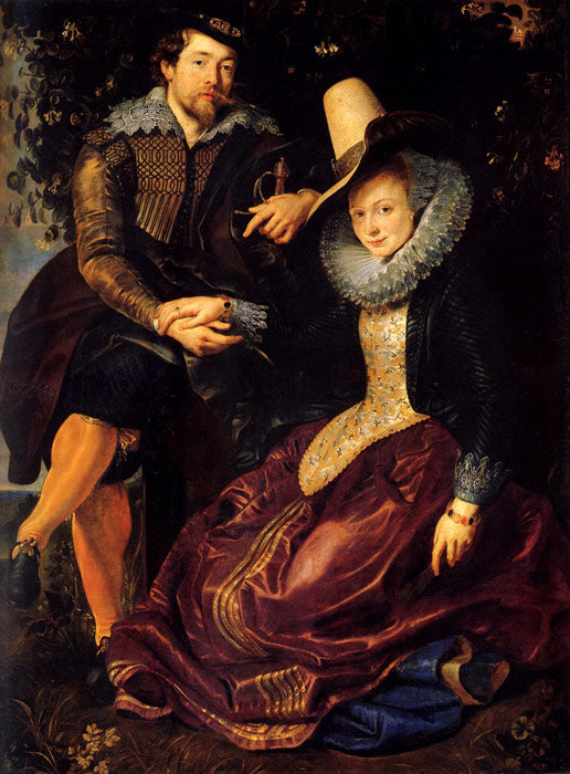Peter Paul Rubens Reproductions-Self-portrait With Isabella Brant, 1610