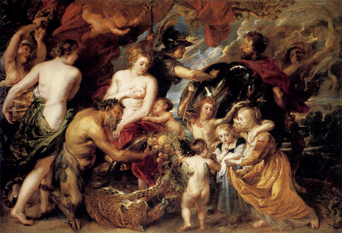 Paintings Reproductions Rubens, Peter Paul Peace and War, 1629-1630