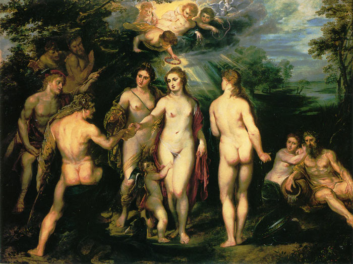 The Judgement of Paris, 1600 Rubens, Peter Paul Painting Reproductions