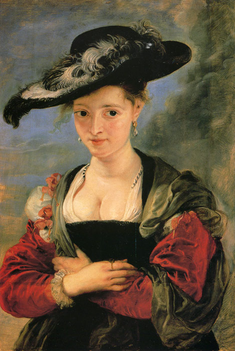 Portrait of Suzana Fourment, 1625 Rubens, Peter Paul Painting Reproductions