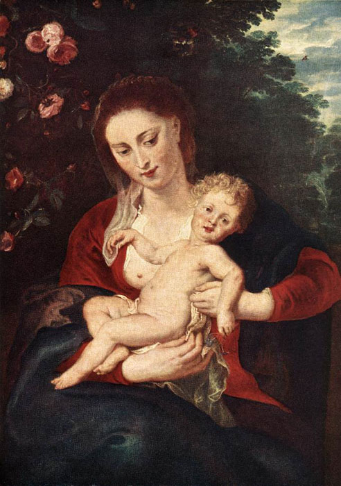 Paintings Reproductions Rubens, Peter Paul Virgin and Child, 1620-1624