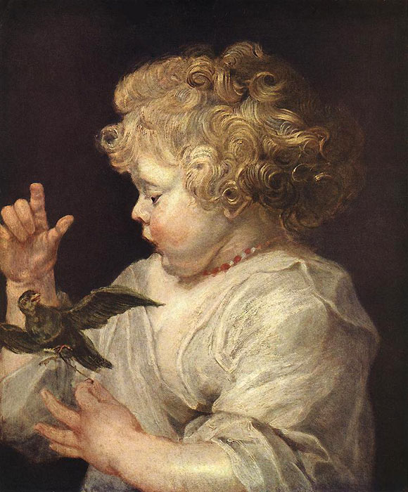 Boy with Bird, c.1616 Rubens, Peter Paul Painting Reproductions