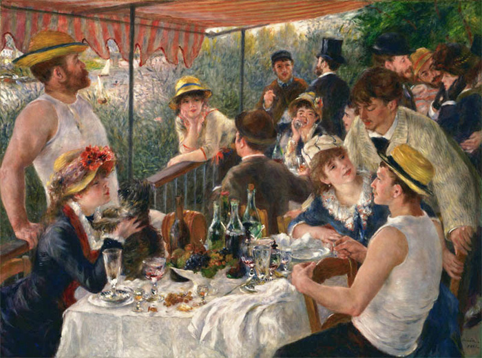 Pierre Auguste Renoir Reproductions-The Luncheon of the Boating Party , 1881