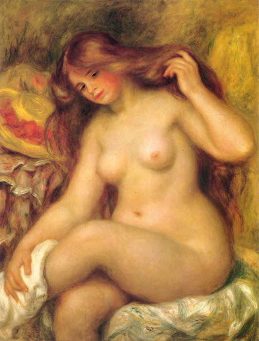Paintings Reproductions Renoir, Pierre Auguste Bather with Blonde Hair, 1904-1906