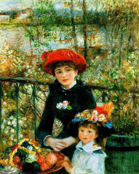 Paintings Reproductions Renoir, Pierre Auguste Two Sisters on the Terrace, 1881
