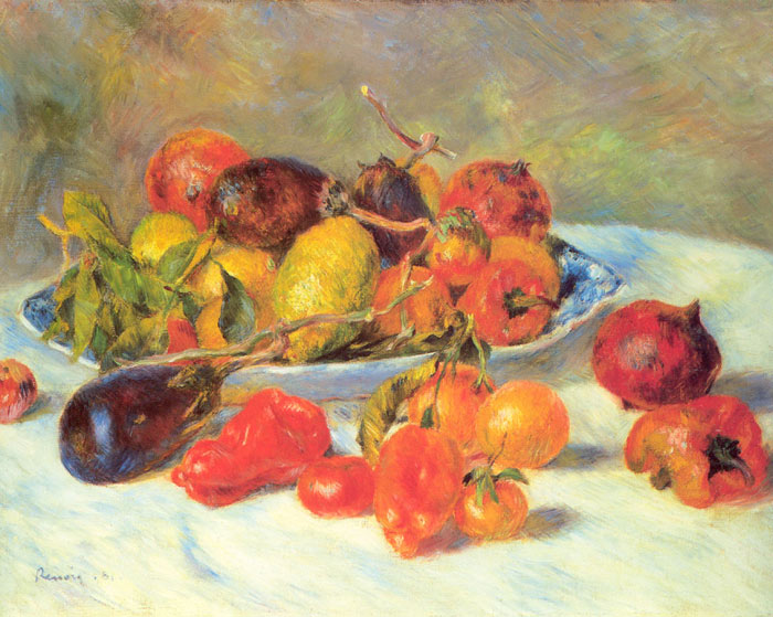 Paintings Reproductions Renoir, Pierre Auguste Fruits from the Midi,  1881