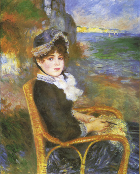 Pierre Auguste Renoir Reproductions-By the Seashore, 1883