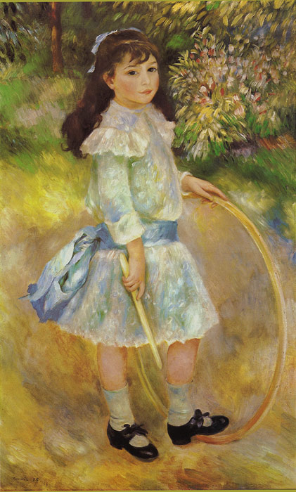 Pierre Auguste Renoir Reproductions-Girl with a Hoop, 1885