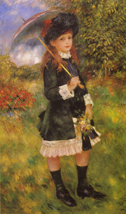 Paintings Reproductions Renoir, Pierre Auguste Girl with a Parasol, 1883