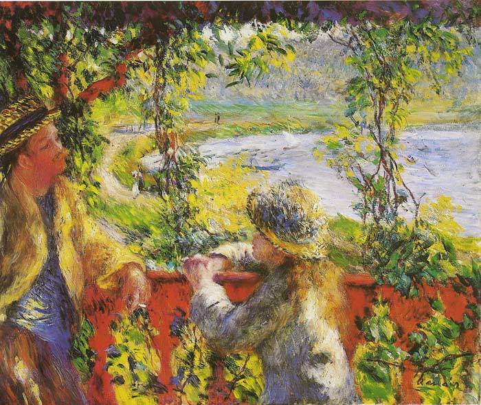 Pierre Auguste Renoir Reproductions-By the Lake, 1880
