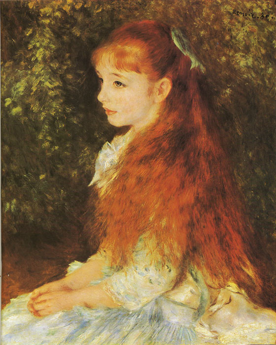 Oil Painting Reproduction of Renoir- Mlle. Irene Cahen d ...