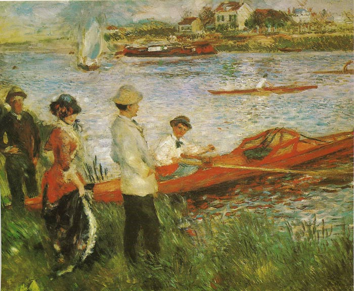 Paintings Reproductions Renoir, Pierre Auguste Oarsmen at Chatou, 1879