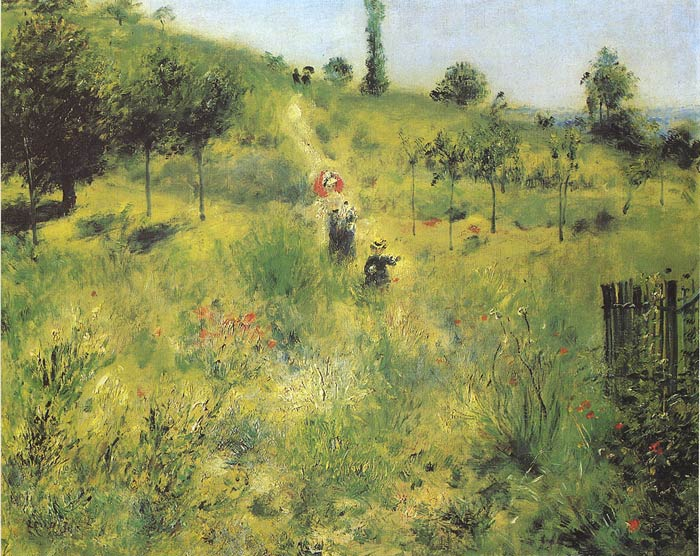 Paintings Reproductions Renoir, Pierre Auguste Country Footpath in the Summer, 1874