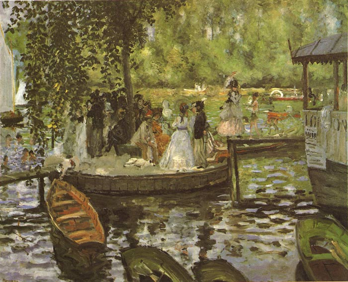 Paintings Reproductions Renoir, Pierre Auguste La Grenouillere, 1869