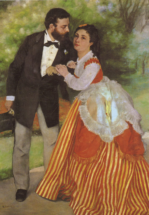 Paintings Reproductions Renoir, Pierre Auguste Alfred Sisley and His Wife, 1868