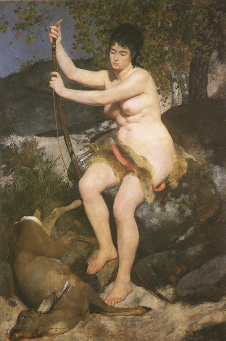 Diana, 1867 Renoir, Pierre Auguste Painting Reproductions