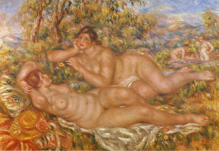 Paintings Reproductions Renoir, Pierre Auguste The Nymphs, 1918