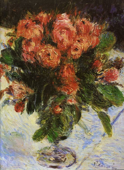 Paintings Reproductions Renoir, Pierre Auguste Roses, 1890