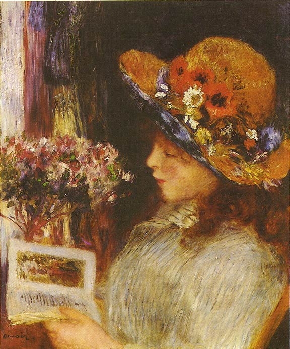 Young Girl Reading, 1886 Renoir, Pierre Auguste Painting Reproductions