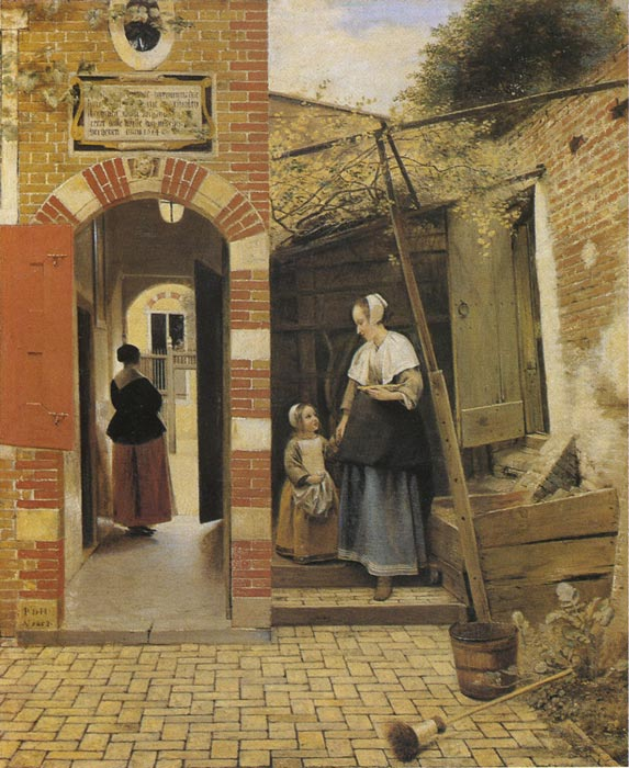 Paintings Reproductions Hooch, Pieter de The Courtyard of a House in Delft, 1658