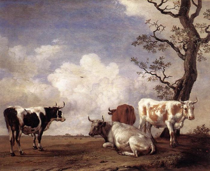 Paulus Potter Reproductions-Four Bulls