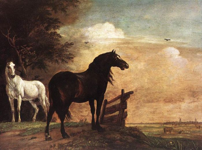 Paulus Potter Reproductions-Horses in a Field