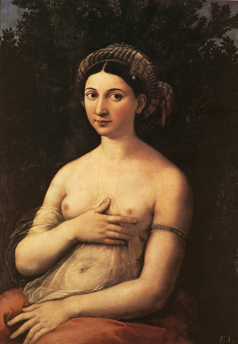 Raffaello Sanzio Raphael Reproductions-Portrait of a Young Woman,  1518-1519