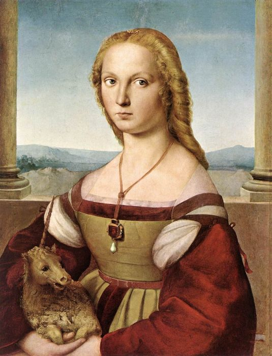 Paintings Reproductions Raphael, Raffaello Sanzio The Lady With a Unicorn, 1505
