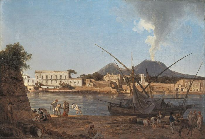 Joseph Rebell Reproductions-The Mole at Portici, 1818