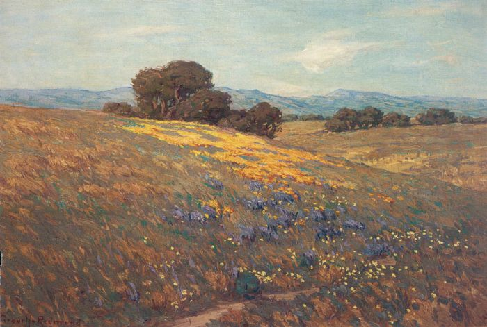 Granville  Redmond Reproductions-Poppies and Lupines