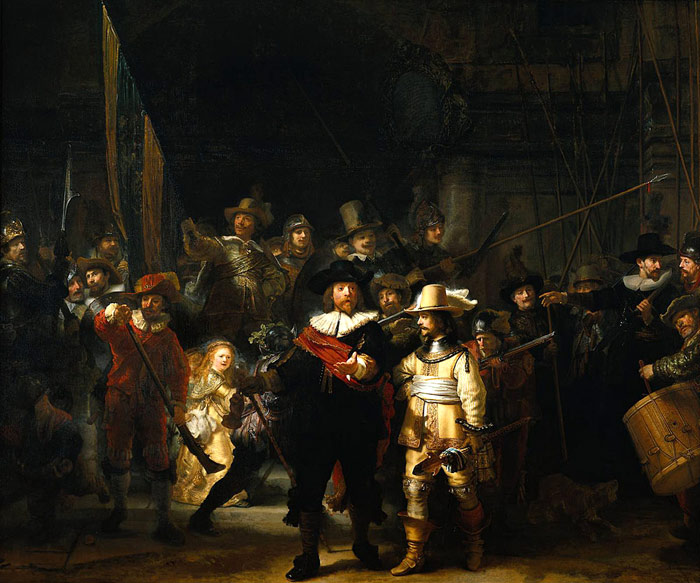 Rembrandt  Reproductions-'The Company of Frans Banning Cocq and Willem van Ruytenburch', known as the 'Nightwatch'