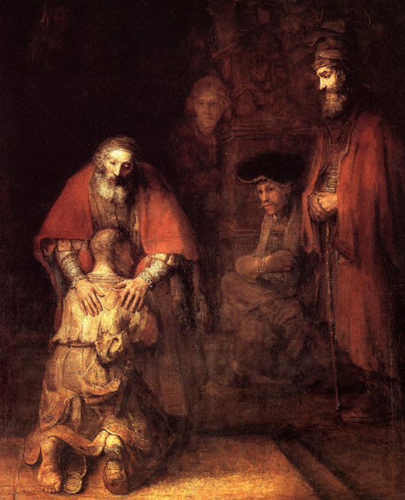 Rembrandt  Reproductions-The Return of the Prodigal Son, c.1669
