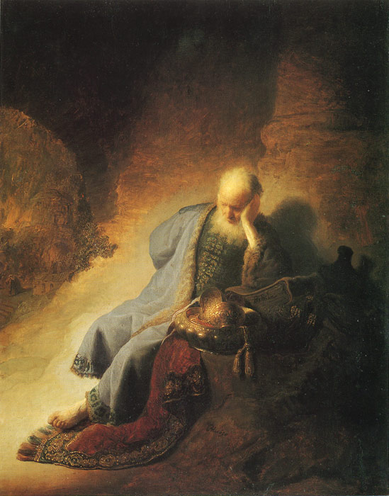 Rembrandt  Reproductions-The Prophet Jeremiah, 1630