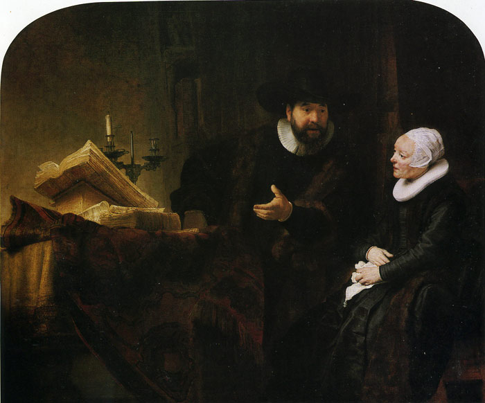 Rembrandt  Reproductions-Jan Rijcksen and Griet Jans, 1633