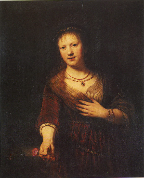 Rembrandt  Reproductions-Saskia as Flora, 1641