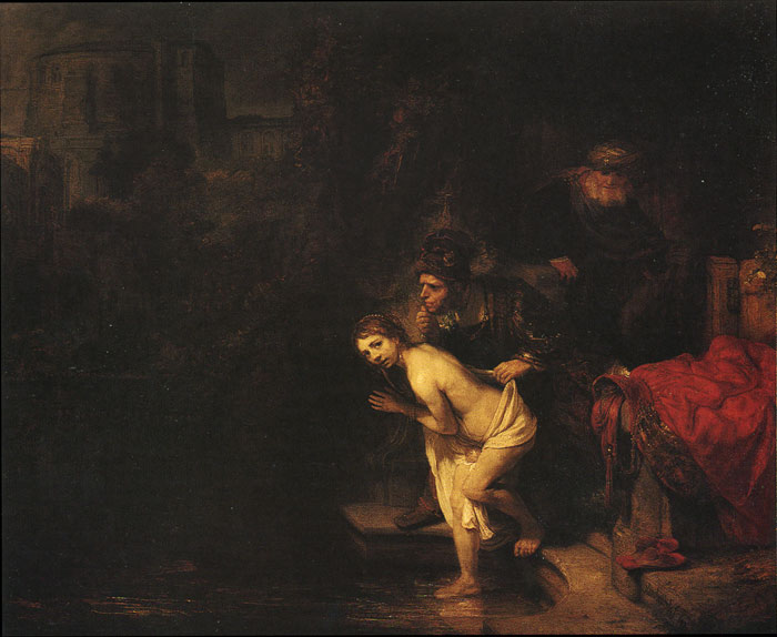 Rembrandt  Reproductions-Susanna and the Elders, 1647